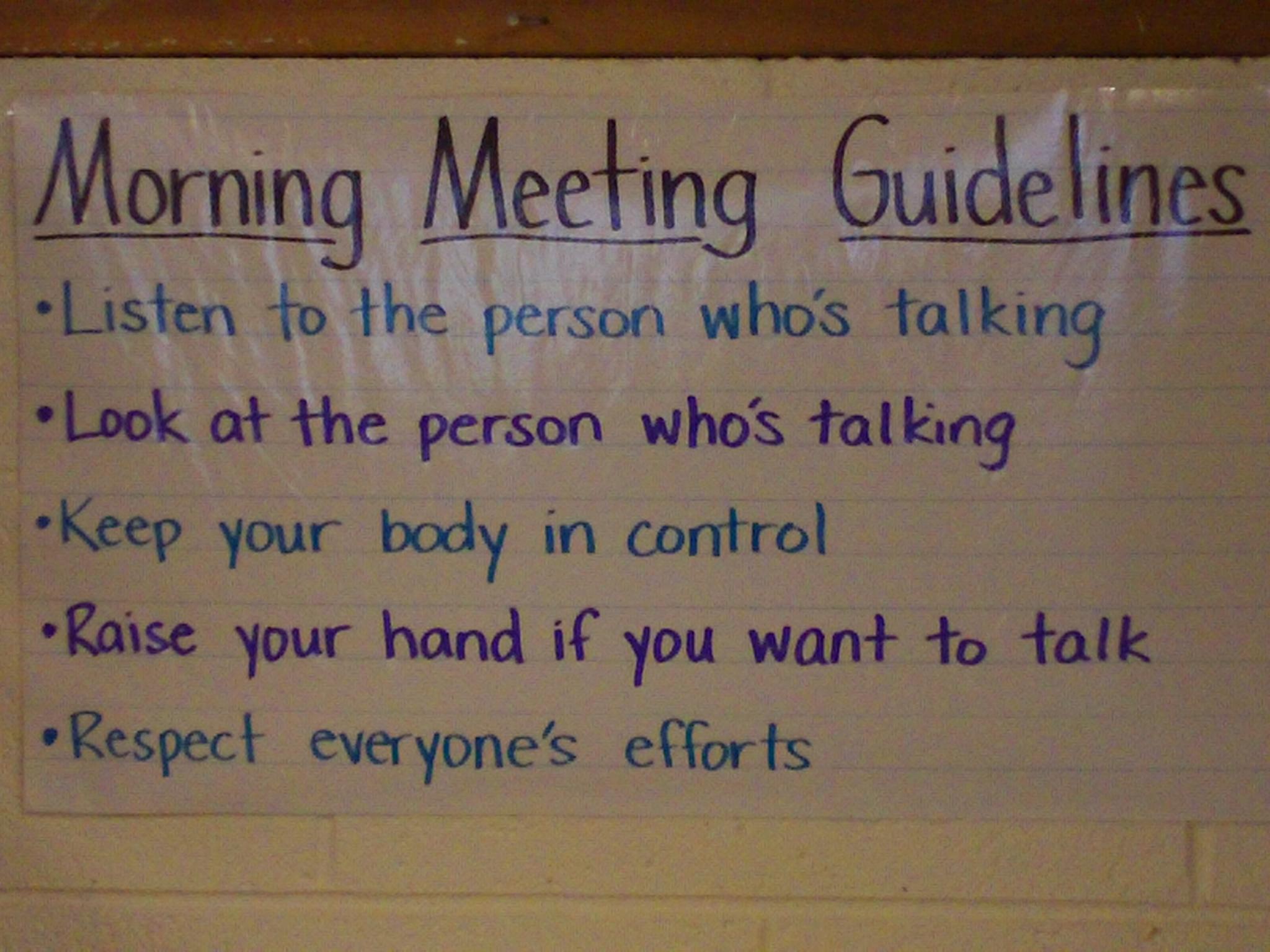 Mrs Shulmans Class Wiki Morning Meeting